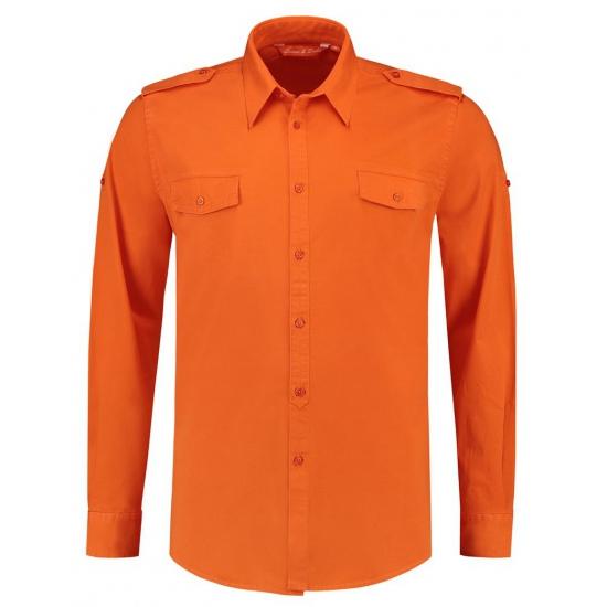 Katoenen Overhemd Heren.Katoenen Overhemd Voor Heren Oranje In Oranje Artikelen Winkel