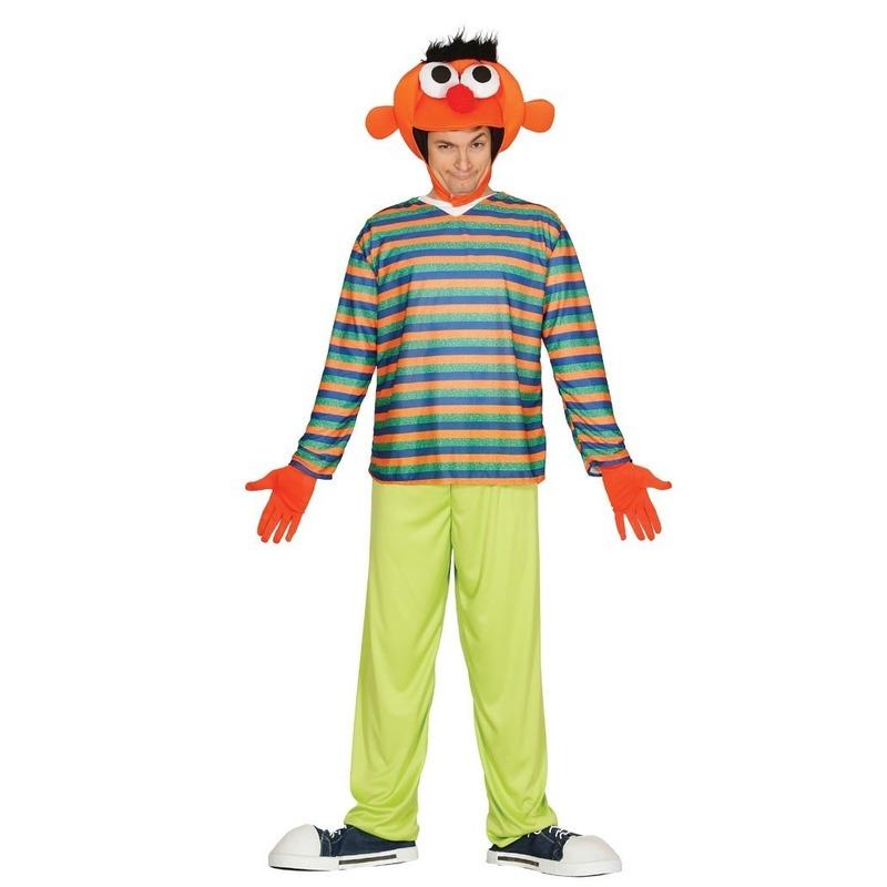 42d1ea0e29c Oranje pop ernie verkleed kostuum voor heren. deze set bestaat uit een  hoofd, een
