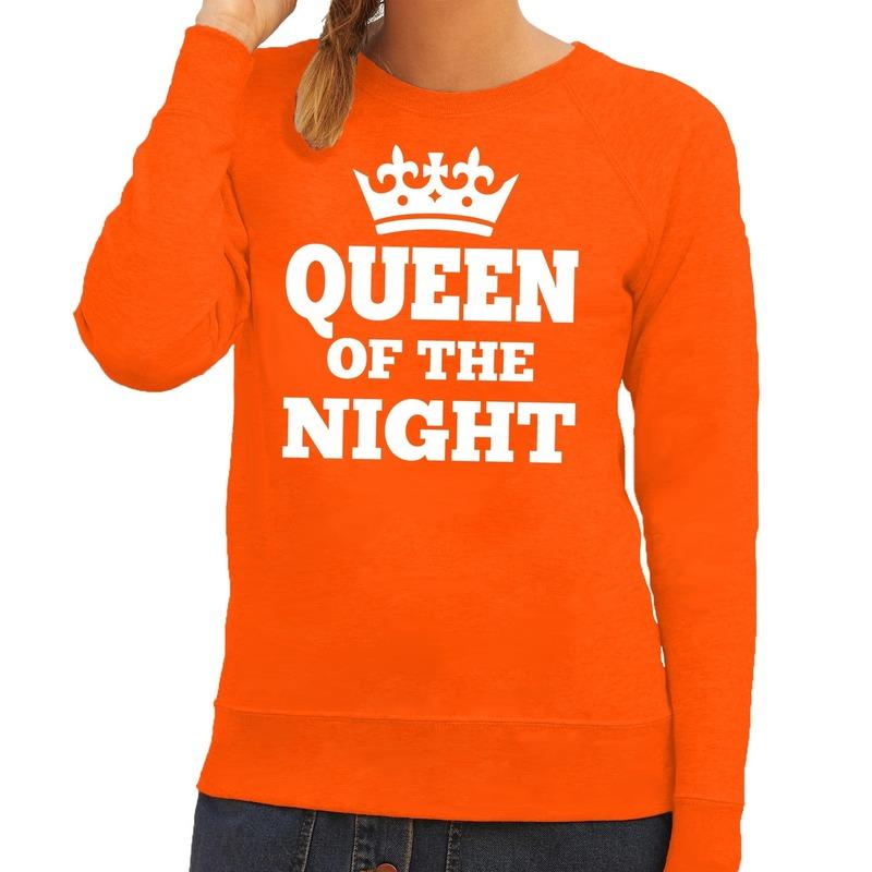 94083687d64a1f Oranje Queen of the night sweater dames in oranje artikelen winkel ...