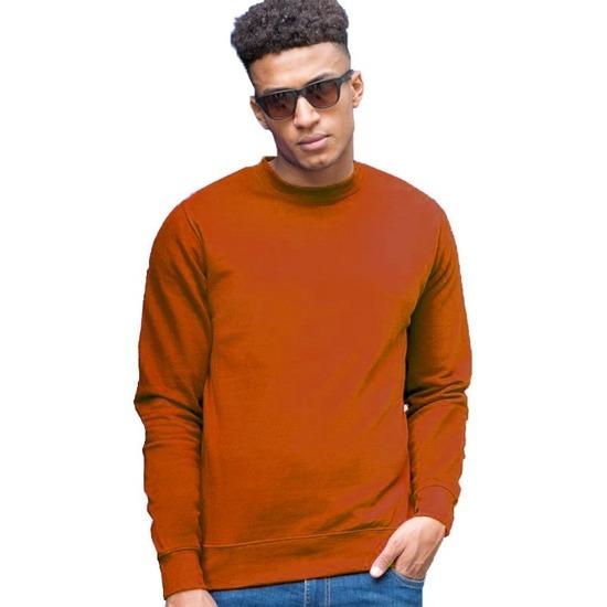 Oranje sweater voor heren Just Hoods