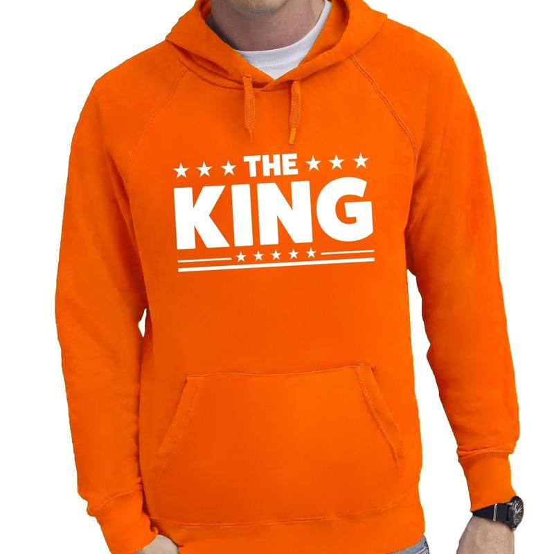Oranje The King hoodie heren