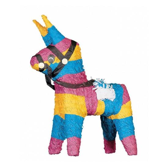 1f6646c9b70456 Pinata ezel gekleurd. deze gekleurde ezel pinata heeft een formaat van  ongeveer 26 x 18