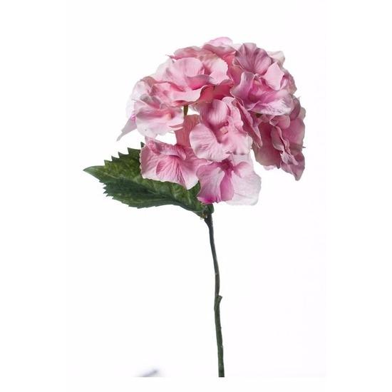 Plastic Hydrangea bloem roze