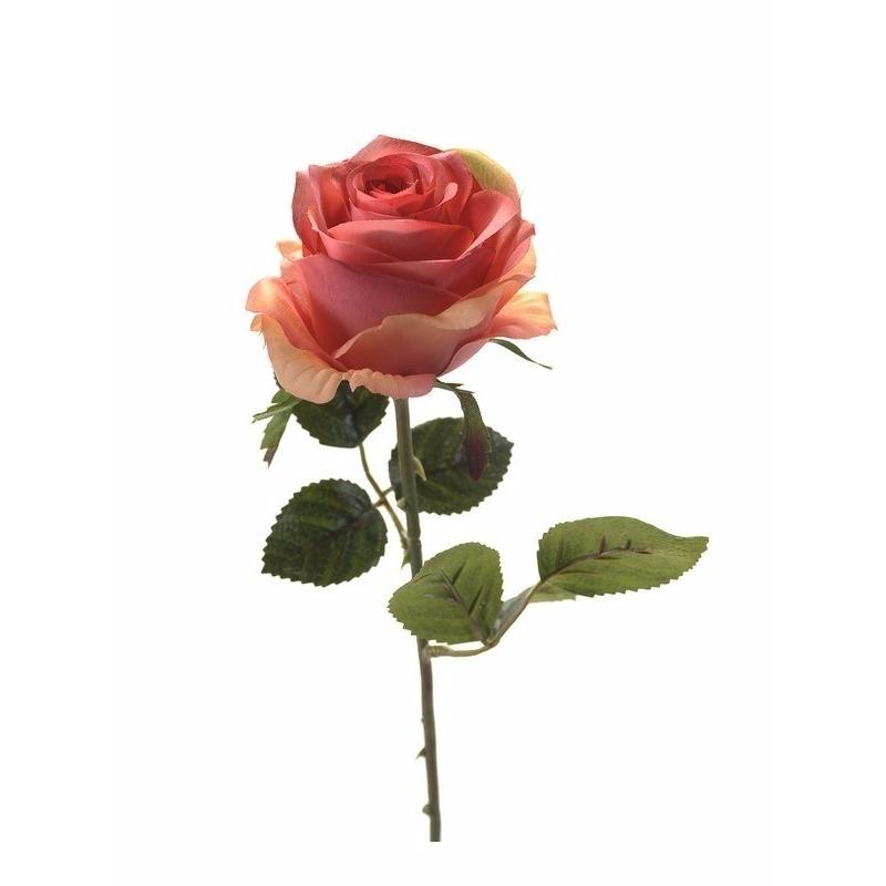 Plastic roosjes bloem roze