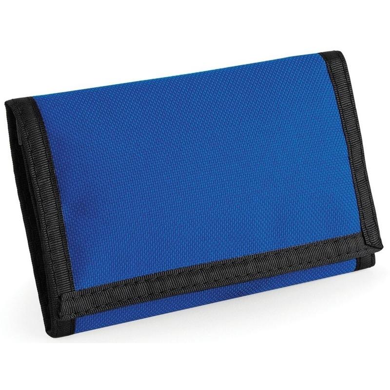 Portemonnee-portefeuille blauw 13 cm