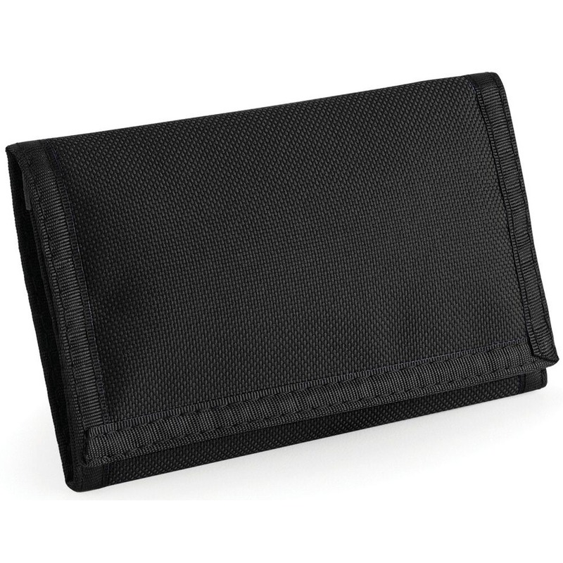Portemonnee-portefeuille zwart 13 cm