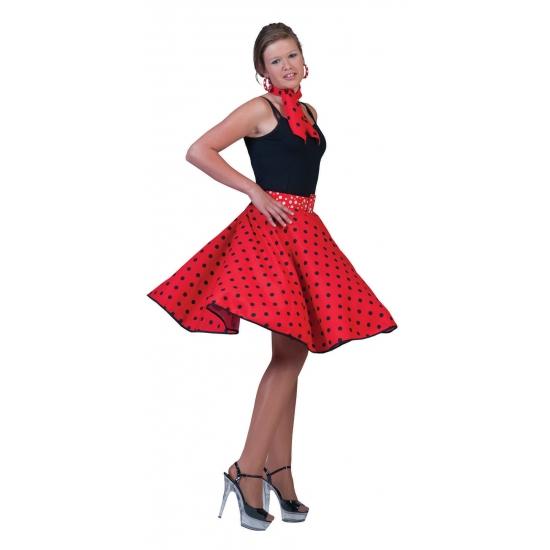 884c071264e44a Fifties dames rokken rood in oranje artikelen winkel Oranjeshopper