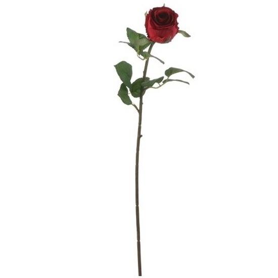 Rode roos kunstbloem 69 cm
