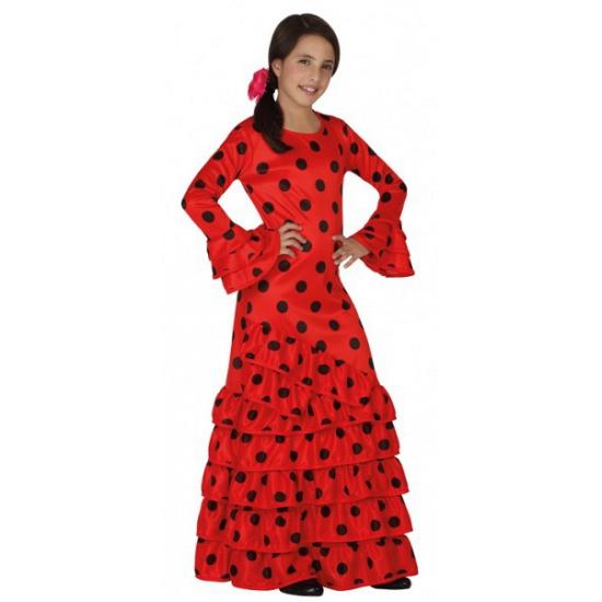 Oranje Rode Jurk.Meisjes Outfit Flamenco Jurk Rood In Oranje Artikelen Winkel