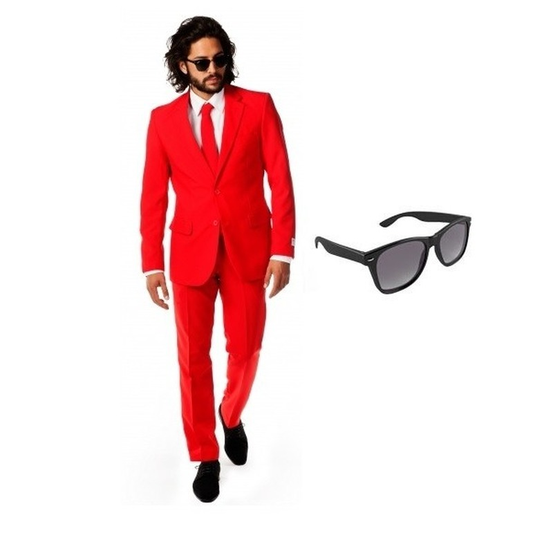 Carnavalskleding Dames Maat 48.Rood Heren Kostuum Maat 48 M Met Gratis Zonnebril In Oranje