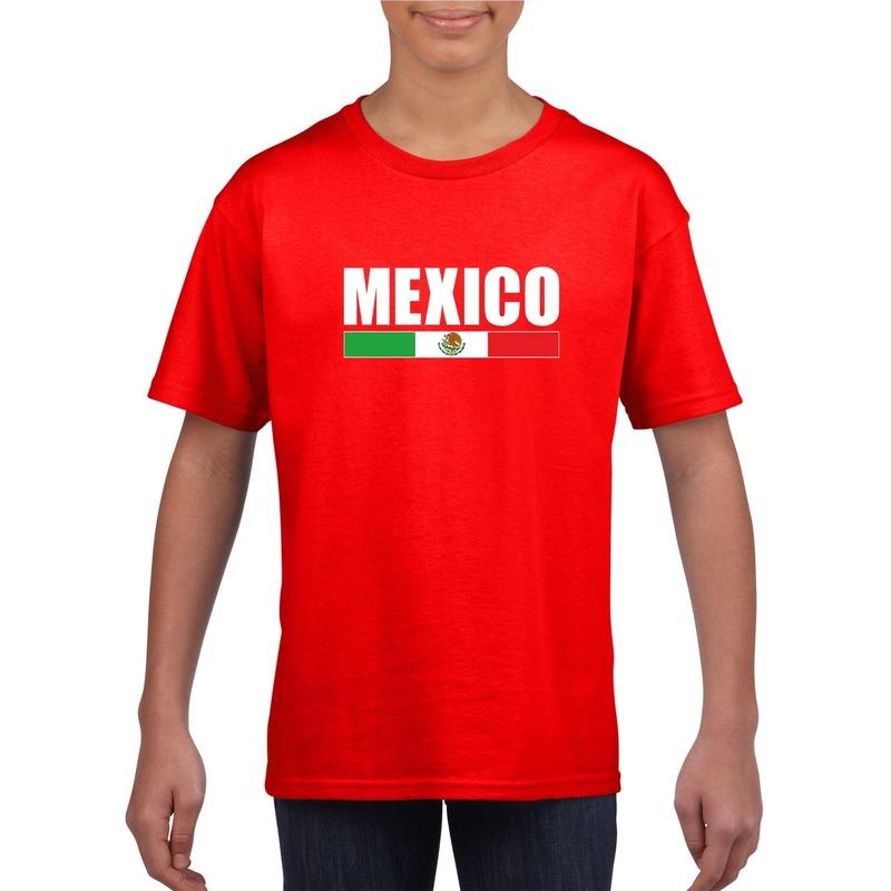 9d1d56dae770c4 Rood Mexico supporter t-shirt voor kinderen in oranje artikelen ...