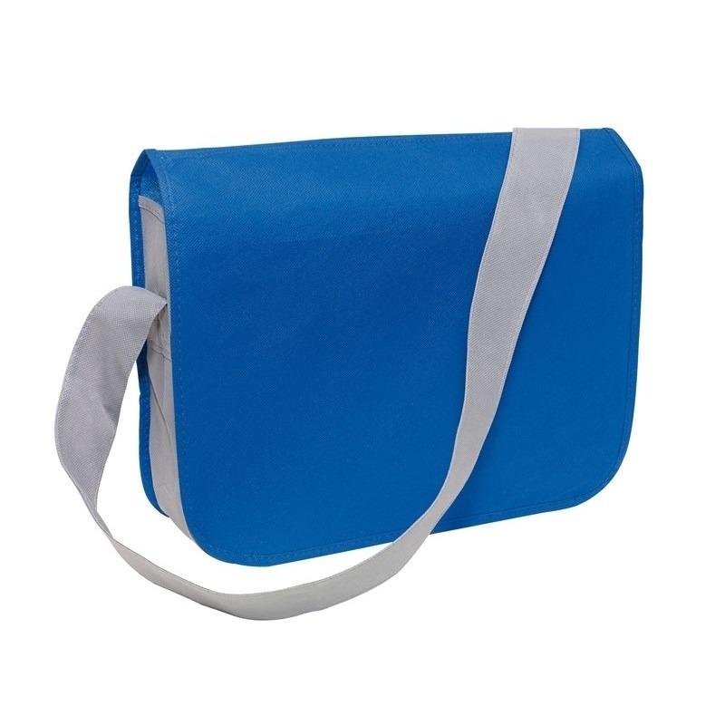 Schoudertas-aktetas-werktas blauw-grijs 36 x 8 x 30 cm