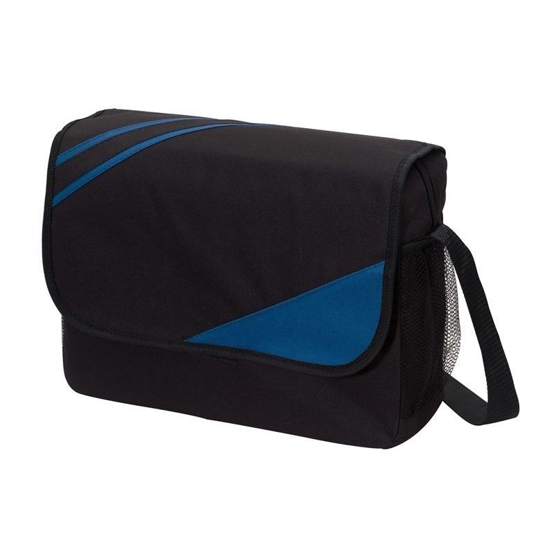 Schoudertas-aktetas-werktas zwart-blauw 39 x 28 x 11 cm