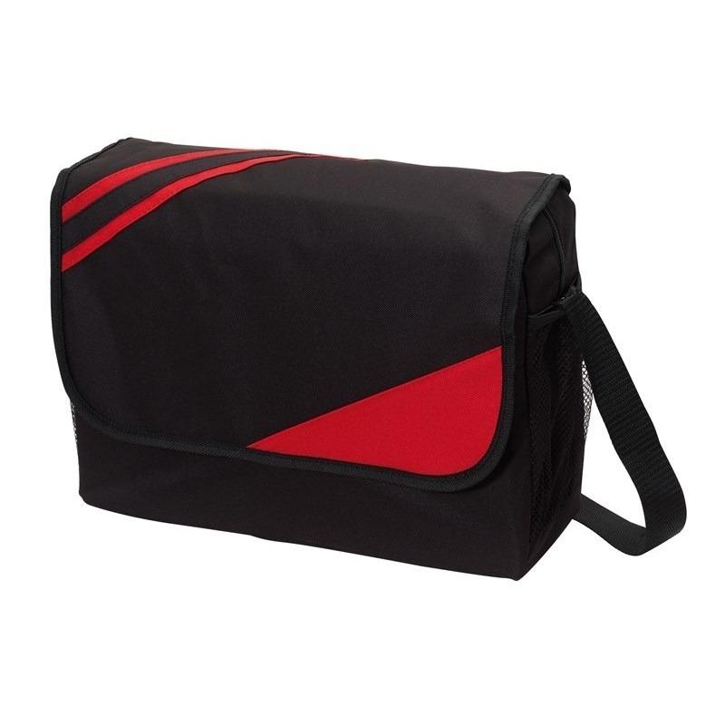 Schoudertas-aktetas-werktas zwart-rood 39 x 28 x 11 cm