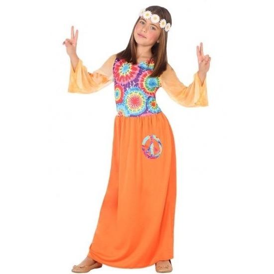 3fe369874a93a3 Sixties/hippie verkleed jurk oranje voor meisjes in oranje artikelen ...