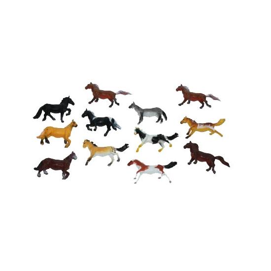 Speelgoed paard plastic 6 cm