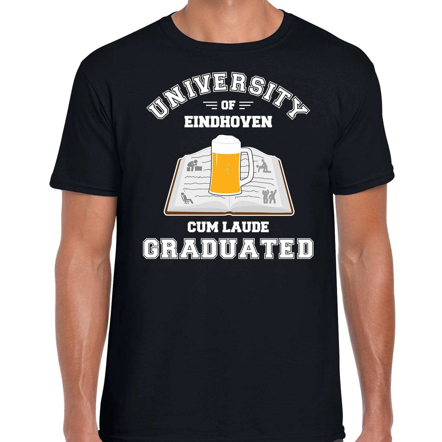 Studenten carnaval t-shirt zwart university of Eindhoven voor heren