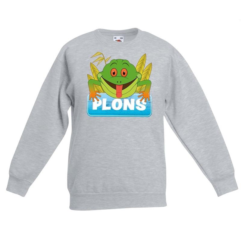 8bf74f3aec4e43 Sweater grijs voor kinderen met Plons de kikker in oranje artikelen ...