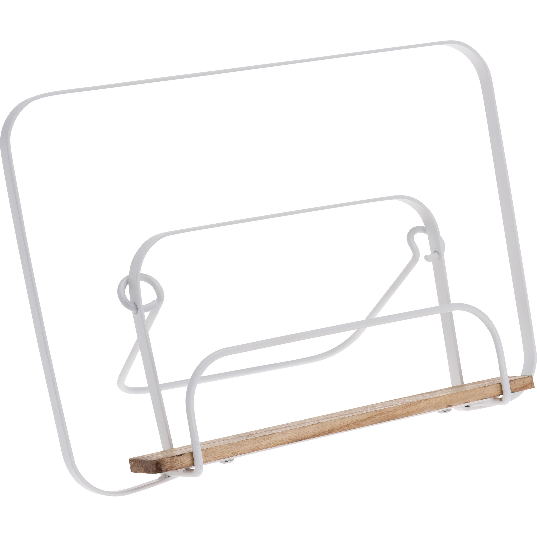 Tablet-iPad standaard-houder wit metaal 29 cm