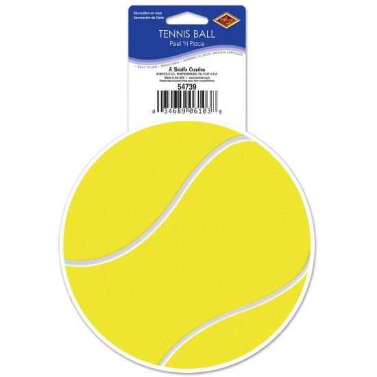 Tennis sticker themafeest 13 cm