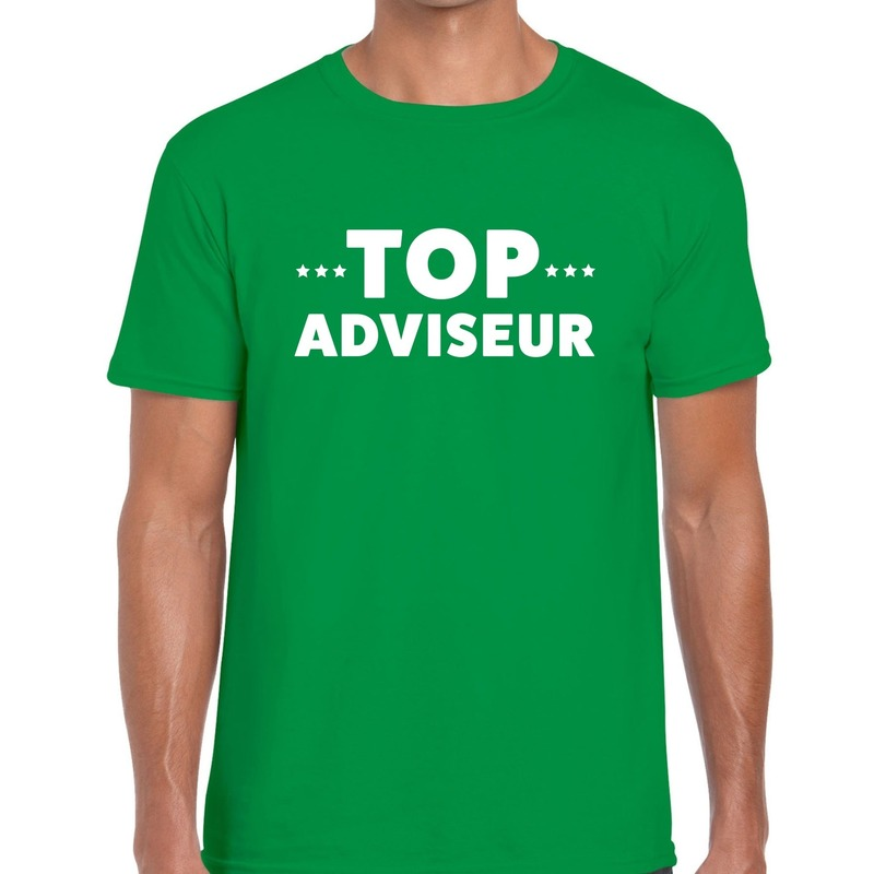 Top adviseur beurs-evenementen t-shirt groen heren