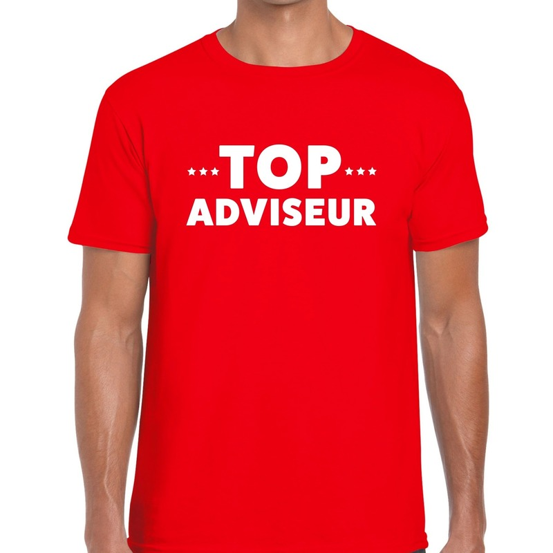 Top adviseur beurs-evenementen t-shirt rood heren