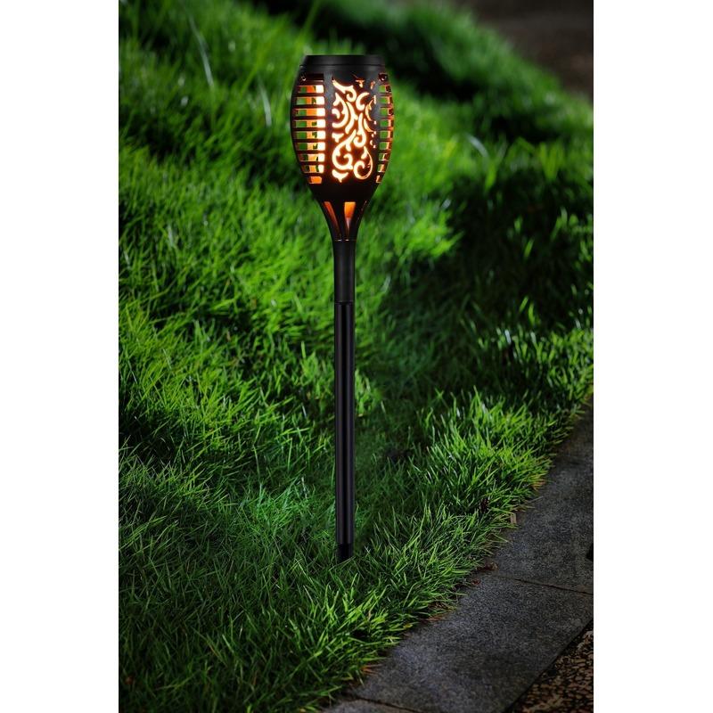 Tuinlamp solar fakkel-tuinverlichting met vlam effect 48,5 cm