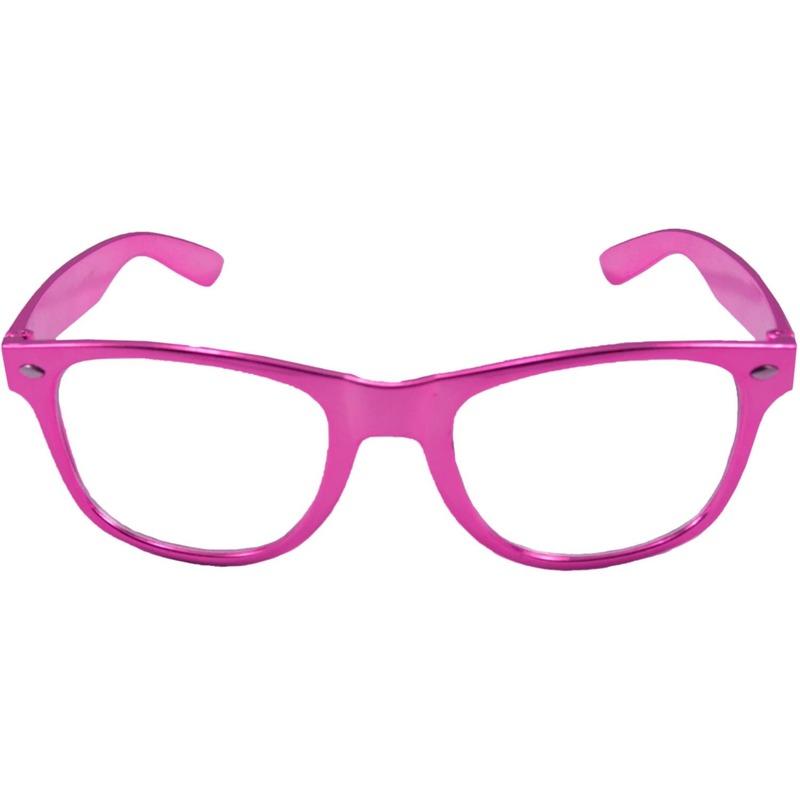 b7757d1f1a47ad Verkleed bril metallic roze in oranje artikelen winkel Oranjeshopper