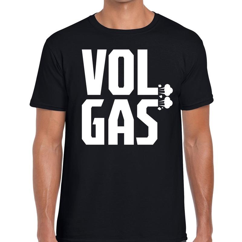 Vol gas festival t-shirt zwart heren