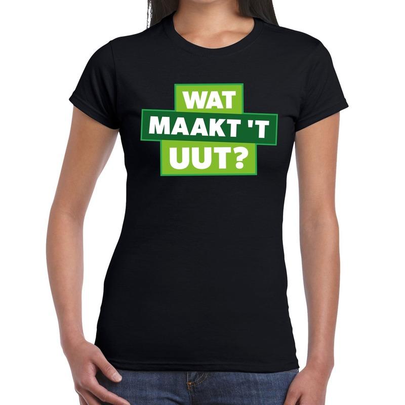 Wat maakt t uut zwart festival t-shirt dames