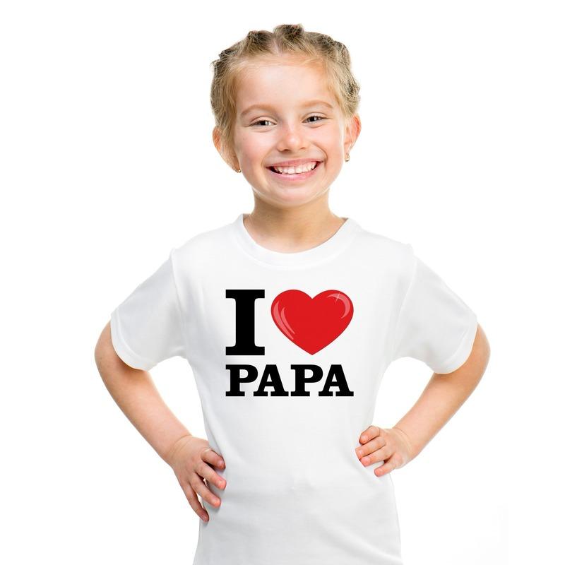 e7a46d3f636e8a Wit I love Papa t-shirt kinderen in oranje artikelen winkel ...