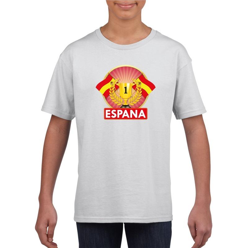 401981af3b75e7 Wit Spanje supporter kampioen shirt kinderen in oranje artikelen ...