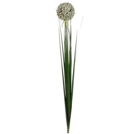 Witte allium/sierui kunstbloem 80 cm