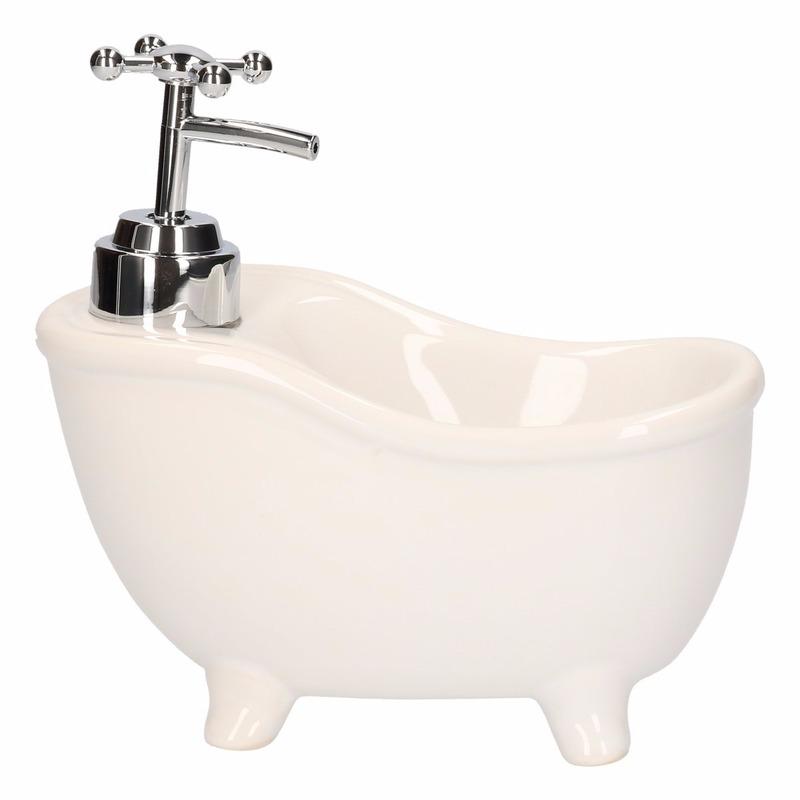 Witte badkuip zeep dispenser