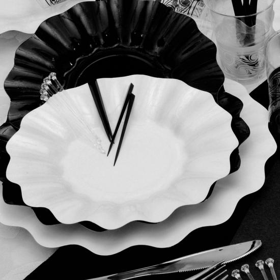 Witte diepe feestbordjes 27 cm