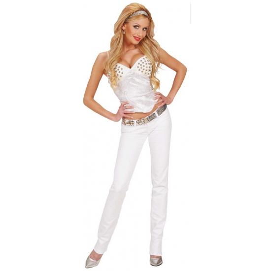 Bedwelming Carnavalskleding dames korset wit in oranje artikelen winkel &SR86