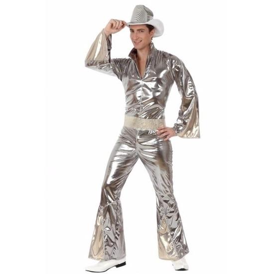 Zilveren disco kostuums voor heren