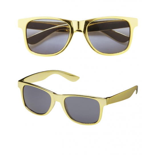 ece63d8c548254 Rapper zonnebril goudkleurig in oranje artikelen winkel Oranjeshopper