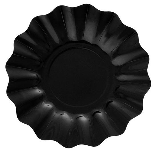 Zwarte diepe feestbordjes 21 cm