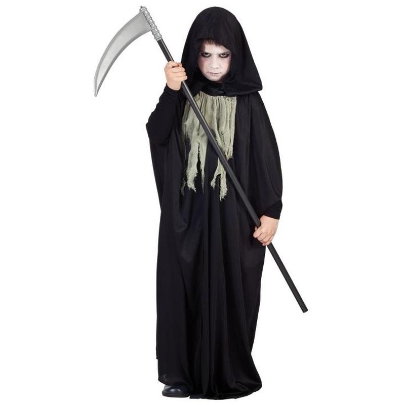 Halloween Kostuum Magere Hein.Zwart Magere Hein Kostuum Kinderen In Oranje Artikelen